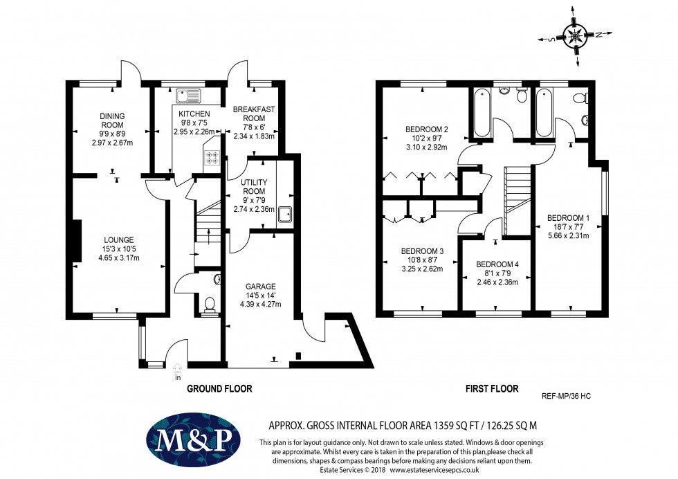 Floorplan for Heath Close, Wokingham