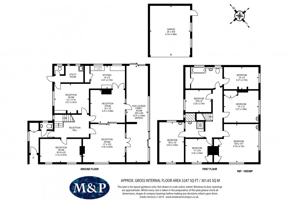 Floorplan for South Drive, Wokingham