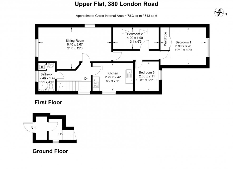 Floorplan for 380, London Road, Wokingham
