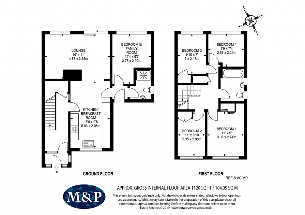Floorplan for Valley Crescent, Wokingham