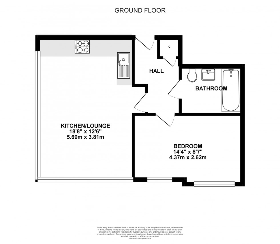 Floorplan for Trinity Court, Emmview Close, Wokingham