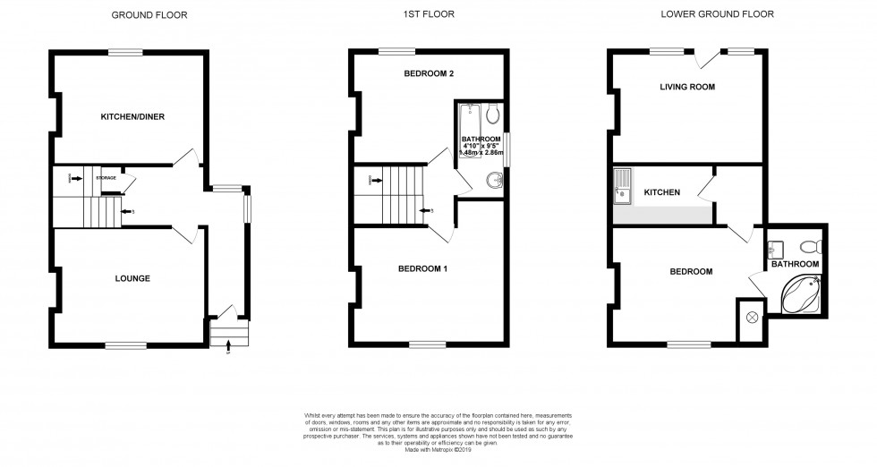 Floorplan for Field Road, Reading