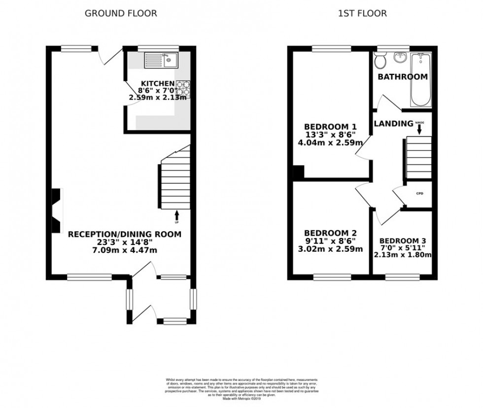 Floorplan for St. Pauls Gate, Wokingham