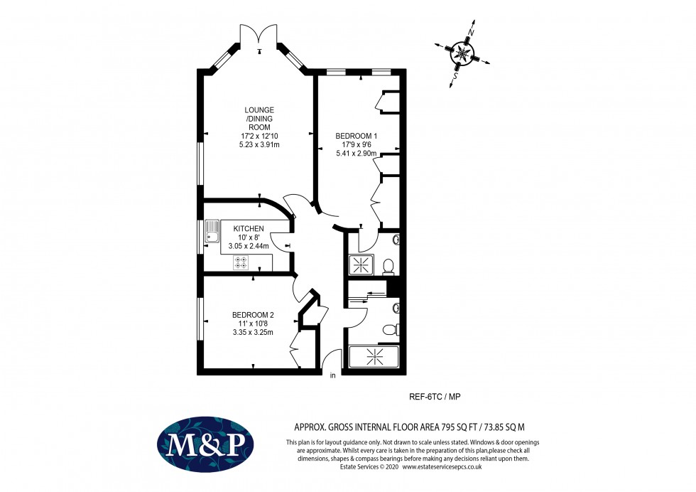 Floorplan for Tithe Court, Glebelands Road, Wokingham