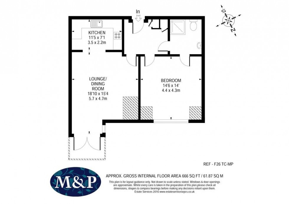 Floorplan for The Cloister, Woolf Drive, Wokingham