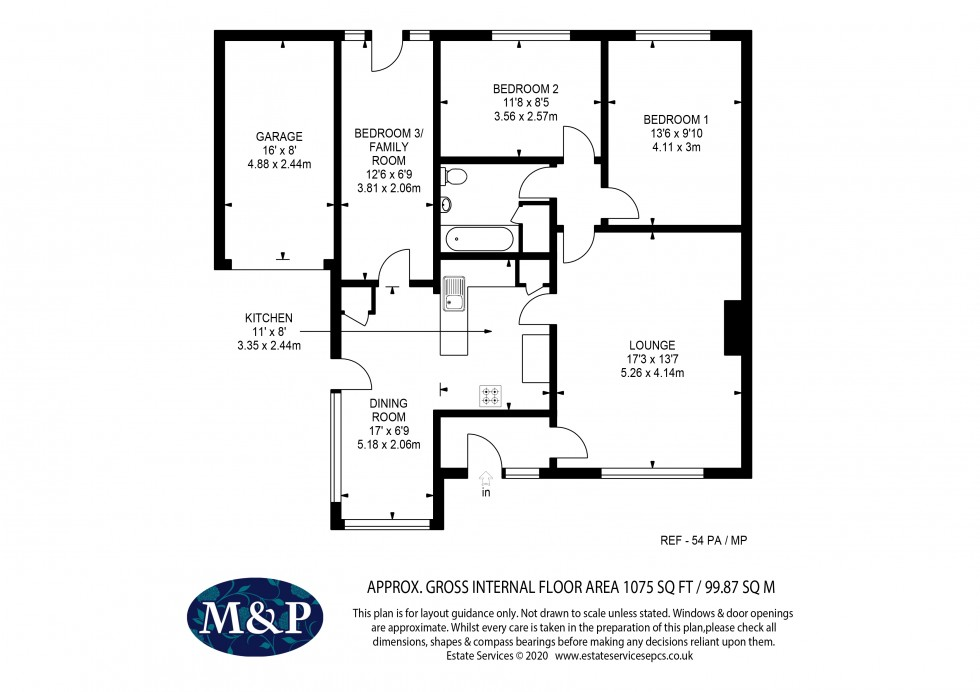 Floorplan for Partridge Avenue, Yateley