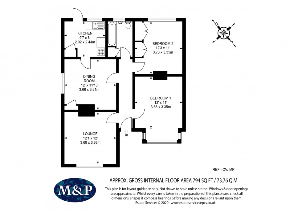 Floorplan for Church Lane, Finchampstead, Wokingham