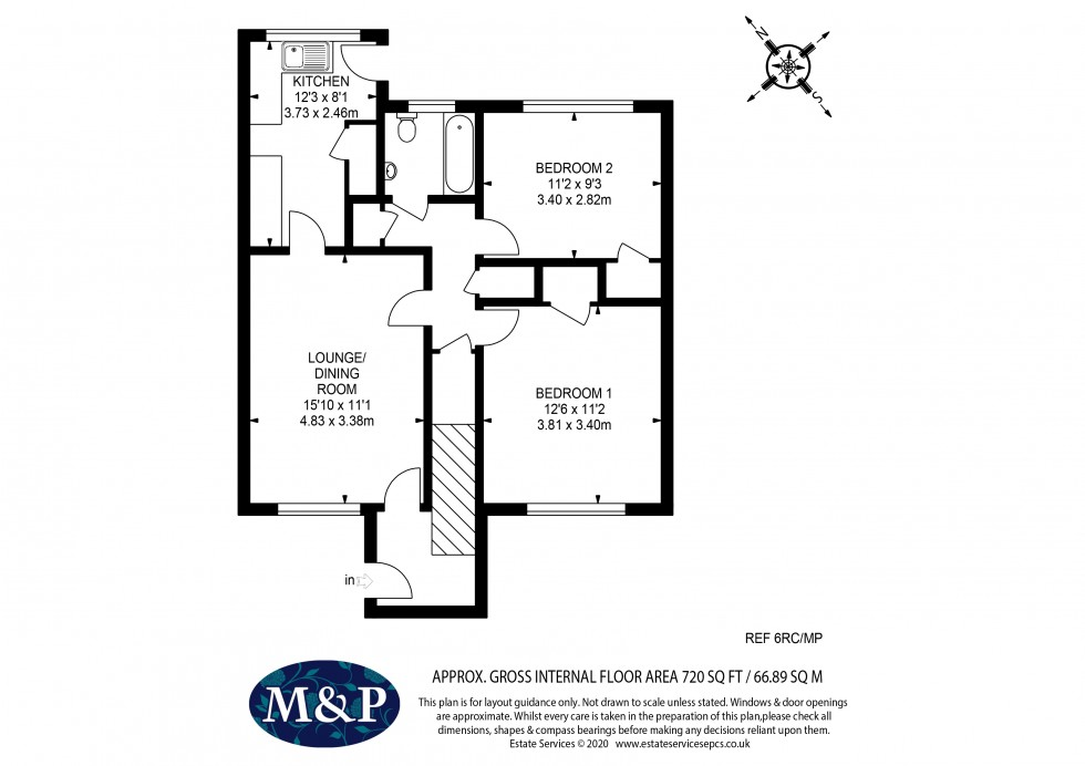 Floorplan for Rickman Close, Woodley, Reading